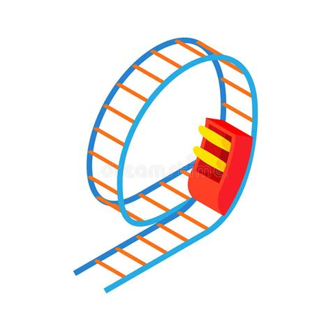 swing roller swing roller coaster icon style stock vector