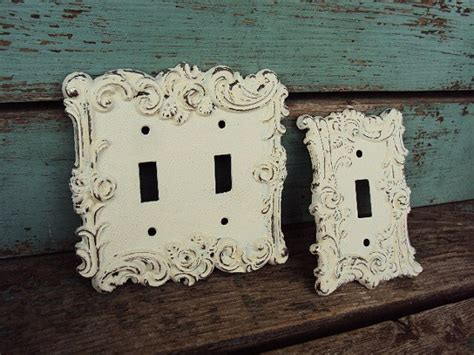 Vintage French Chic Light Switch Plate Cover Double And Shabby Chic Light Switch Covers