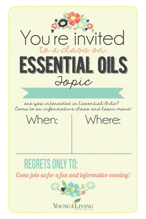 Items Similar To 4x6 Young Living Class Invitation Instant Download Printable Invite People To Class Invitation Template