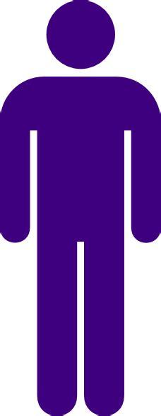 masculine purple purple male toilet sign clip art at clker com vector