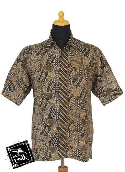 Kemeja Kok 1625 412 baju batik sarimbit gamis motif dedauan ublek tumpal kemeja pendek murah batikunik
