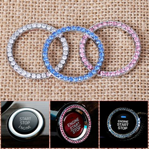 Ring Engine Start Glow In The car engine start stop push button ignition decoration ring for bmw audi ebay