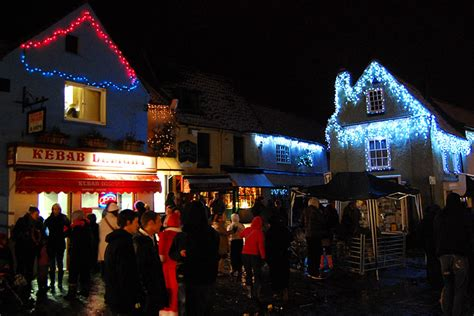 bbc in pictures holt christmas lights with jake humphrey
