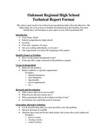 Short Technical Report Sample 5 Technical Report Templatereport Template Document