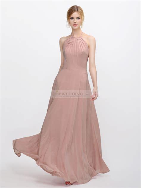 Designer Bridesmaid Dresses by Ethereal Chiffon Bridesmaid Dress In Halter Design