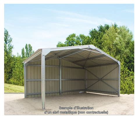 Garage Metallique En Kit 40m2 4108 by Abris M 233 Talliques Direct Batiment