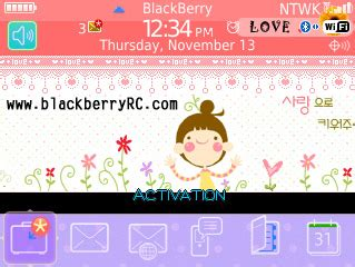 themes cartoon blackberry 9300 cute cartoon girl theme for blackberry curve 8520 8530