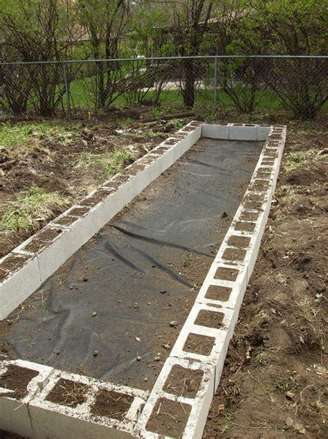 Cinder Block Raised Bed Garden Backyard Pinterest