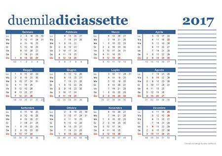 Calendario 2018 Settimane Calendario 2017 Da Scaricare Gratis E Stare