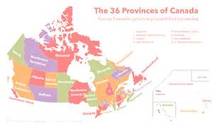 province of canada map the 36 provinces of canada