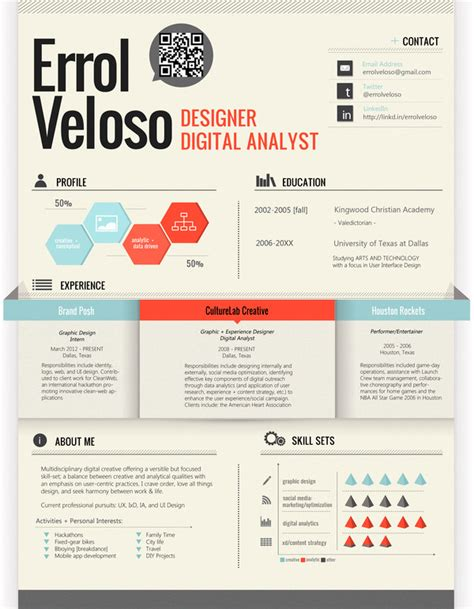 cv resume design 50 awesome resume designs that will bag the hongkiat