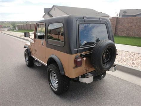 1982 jeep jamboree sell used 1982 jeep cj7 jamboree 282 factory ac