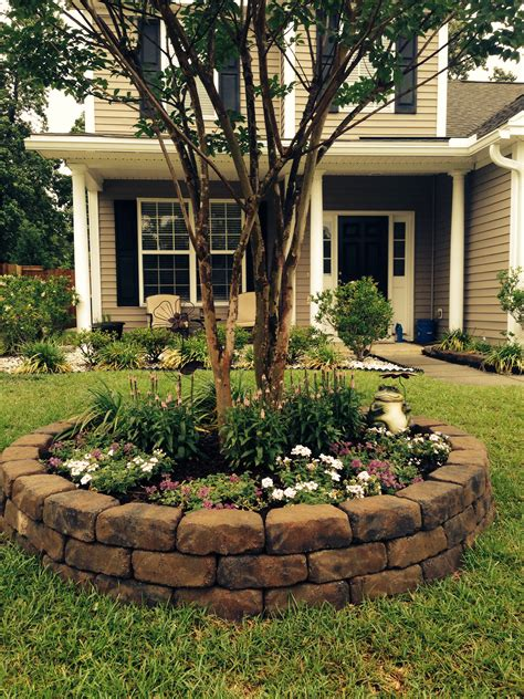 Tree Landscaping Ideas Front Yard Landscape Project Idea To Add Some Pizzazz Around Our Trees Garten