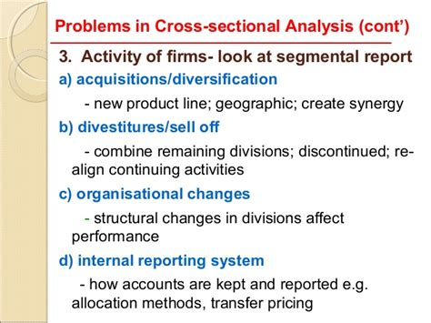 cross sectional study limitations 7 limitations of ratio analysis