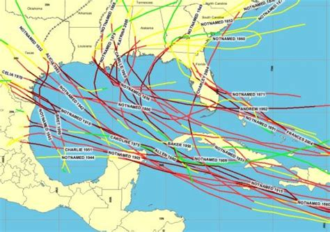 us hurricane history map hurricanes crisisboom