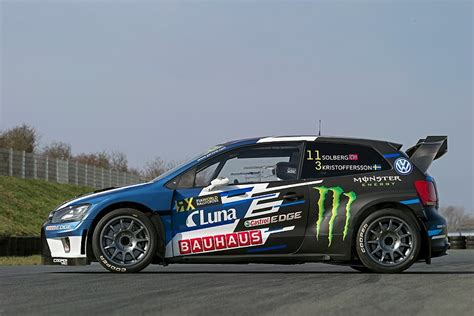 volkswagen polo rallycross dual world rallycross chion solberg launches new vw
