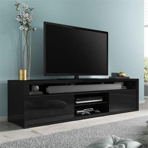 Wide Shower Bath evoque black high gloss tv unit with soundbar shelf
