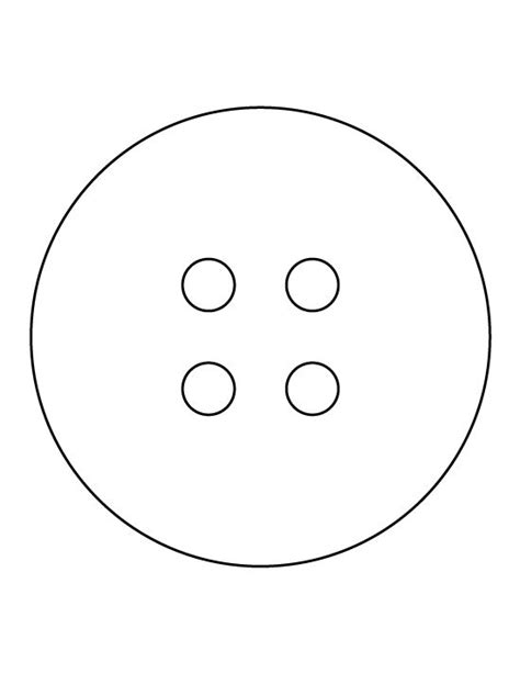 Button Templates button pattern use the printable outline for crafts