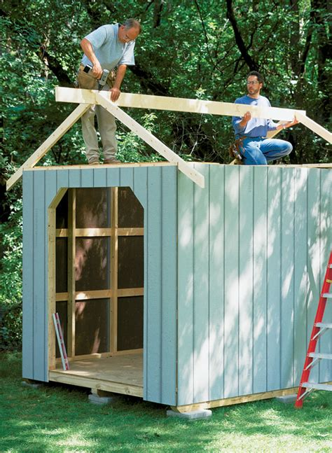 garden tool shed woodworking project woodsmith plans