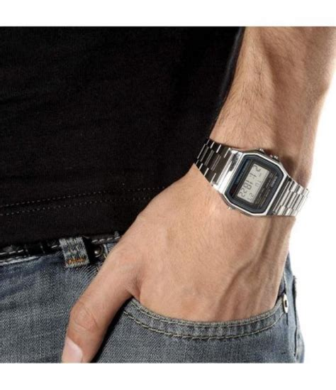 casio a 158wa orologio vintage orologio casio acciaio vintage a158wa la tua moda