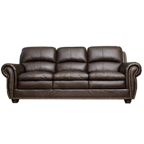 Harrison Leather Recliner by Abbyson Living Harrison Leather Sofa In Brown Jc 2300 Brn 3
