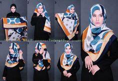 Segiempat Satin Berkualitas tudung bawal premium exclusive satin shawl italian pucci by cloverush fesyen tudung