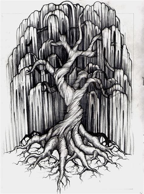 weeping willow tattoo willow tree by aluc23 on deviantart