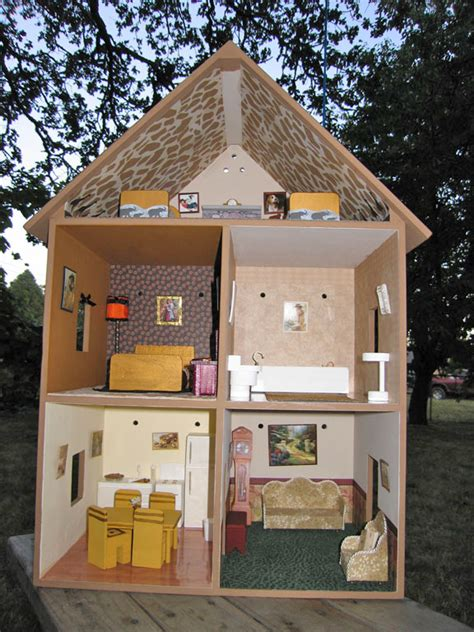 doll house themes dollhouse decorating a completed playable lighted wooden doll house