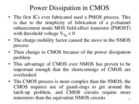 which process will the power dissipated by a resistor low power vlsi design ppt