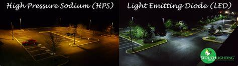 high pressure sodium lights vs led led versus high pressure sodium hps and low pressure