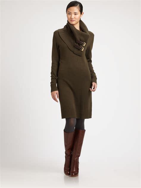 Michael Sweater Black Limited 1 lyst michael michael kors sweater dress in green