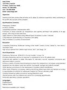 Phlebotomist Resume Objective by Resume Phlebotomy And Free Resume On