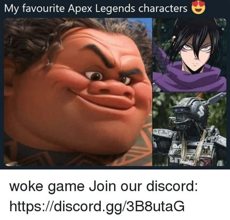 favourite apex legends characters woke game join