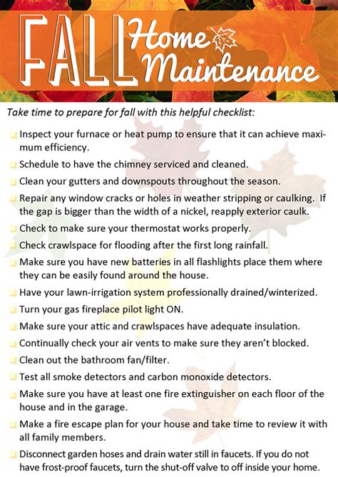 tips home fall home maintenance tips windermere shoreline