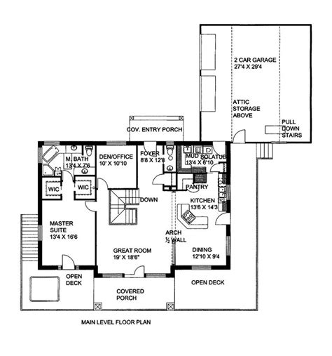 Lake View Home Plans by House Plans With Rear Lakeview