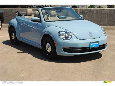 blue volkswagen convertible 2013 denim blue volkswagen beetle 2 5l convertible
