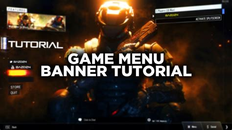 design game menu how to design a game menu header bazdzn youtube