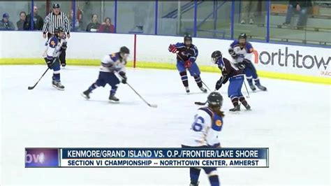 section vi hockey orchard park frontier lake shore wins section vi girls