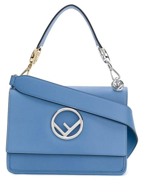 Be D Kan Kan Portfolio Shoulder Bag by Lyst Fendi Kan I F Shoulder Bag In Blue