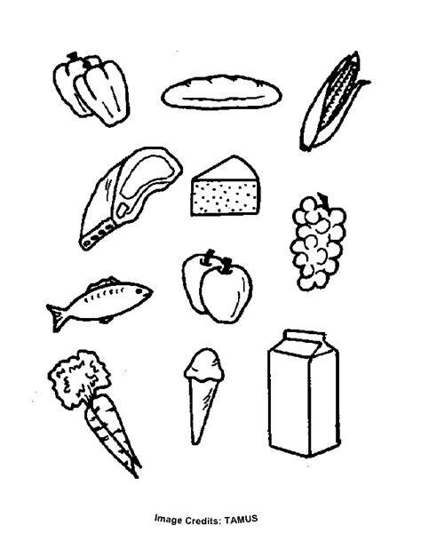 Food Groups Free Coloring Pages For Kids Printable Food Groups Coloring Pages