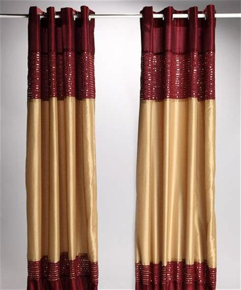 burgundy and gold curtains burgundy gold xanadu lined curtain panel set of two