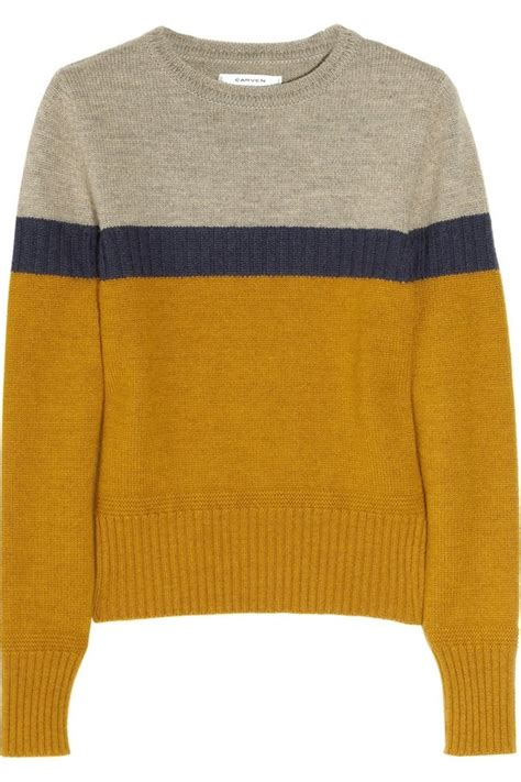 Two Tone Wool Bag With In 3 Colors carven color block wool sweater