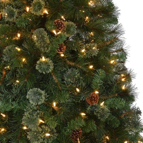 home depot alexandria pine tree martha stewart living 9 ft pre lit led pine set artificial tree with