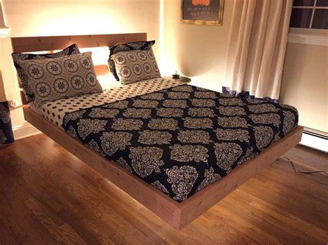 floating bed   bed frame plans bed frame design