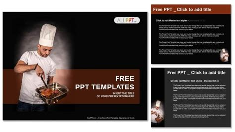 Cooking Show Template Chef Cook Holding Pan With Powerpoint Templates