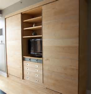 Bedroom Wall Units For Storage Custom Made Modern Wall Unit Of Maple By Barone Woodwork