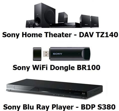 Sony Dvd Home Theater Dav Tz140 sony dav tz140 home theater sony player bdp s380 and sony wifi dongle br100 price