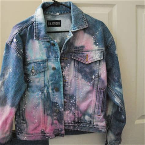 jean jacket design ideas denim jean galaxy jacket celestial hippie from