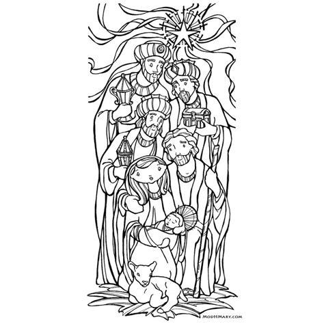 epiphany catholic coloring page free printable