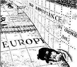 a peep under the iron curtain behind the iron curtain political cartoon glif org